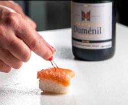 Champagne Duménil et sushi